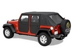 Bestop FRONT Full Doors; With Paddle or Rotary Handle 2007-2018 JEEP WRANGLER JK 4 DOOR